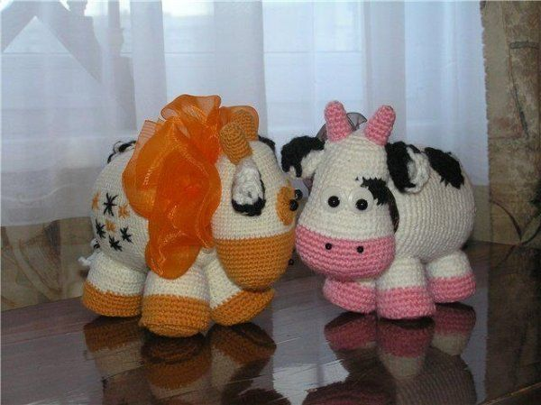 Vaches au crochet , pas à pas en images !