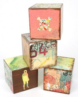 "See+the+""Wooden+Baby+Blocks""+in+our+Decoupage+Crafts++gallery"