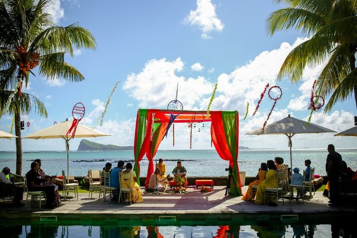 Wedd In... Mauritius  Haldi Ceremony...Look at that view!!!