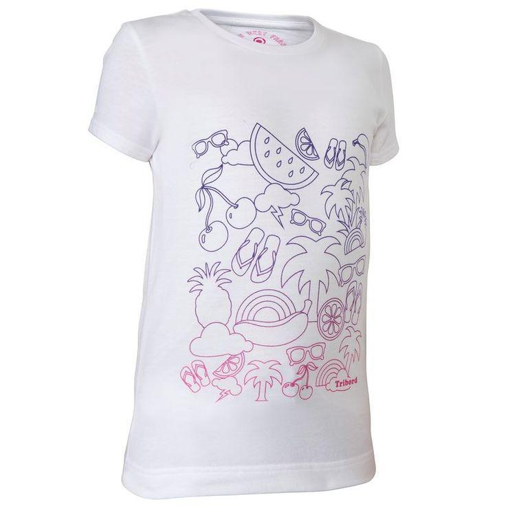 Surf-T-Shirt Txika Doodle TRIBORD - Wassersport_Surfen_SonnenschutzBekleidung...