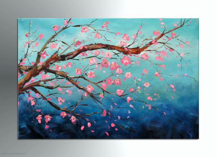 Schilderij Florish: mooi schilderij, leuk idee om een keer zelf te maken