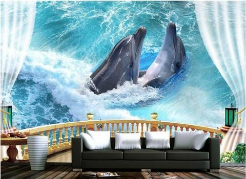 3D Relief Horse Pair Wallpaper for Wall Stereoscopic Sculptured Horses Mural