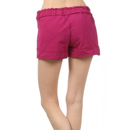 High Quality Solid, French Terry shorts with a waist tie detail. 95 cotton. 5 spandex (T-1002) by www.sweetnkool.com