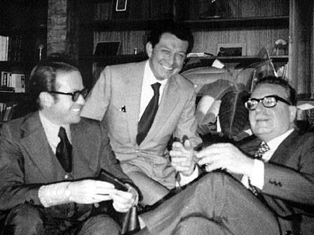 1969 con Jacobo Zabludvski y Miguel Alemán