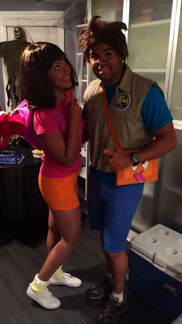 Dora and Diego Halloween Fun #couplescostume