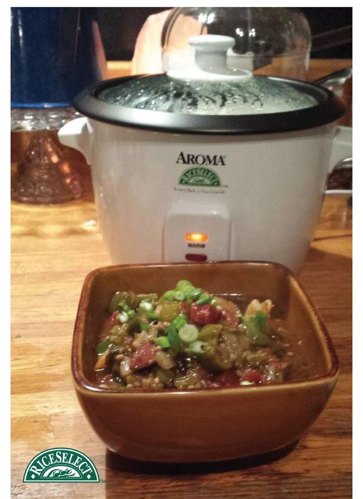 How @elisesmommy12 on Twitter rethinks rice: Gumbo with Texmati Rice using her new Aroma Rice Cooker.  #RethinkRice #Sweeps #RiceSelect #Recipe