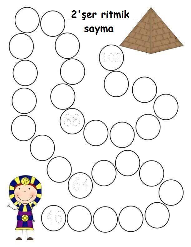 2 Ser Ritmik Sayma Etkinlik Sayfalari Evde Egitim Matematik