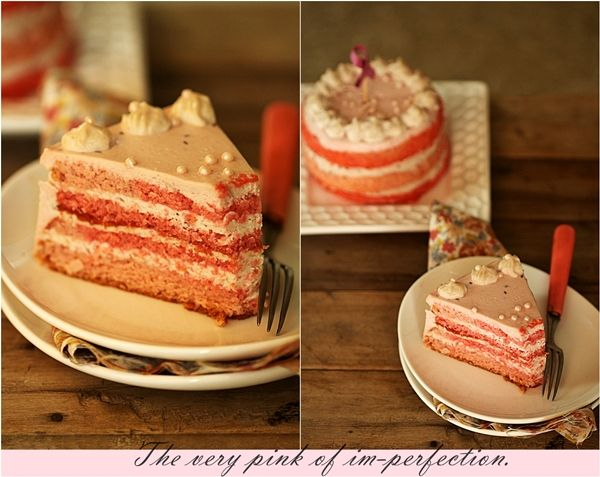 Almond Raspberry Quark Layered Cake...bake a pink cake this month to ...