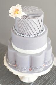 Cake, add purple flowers