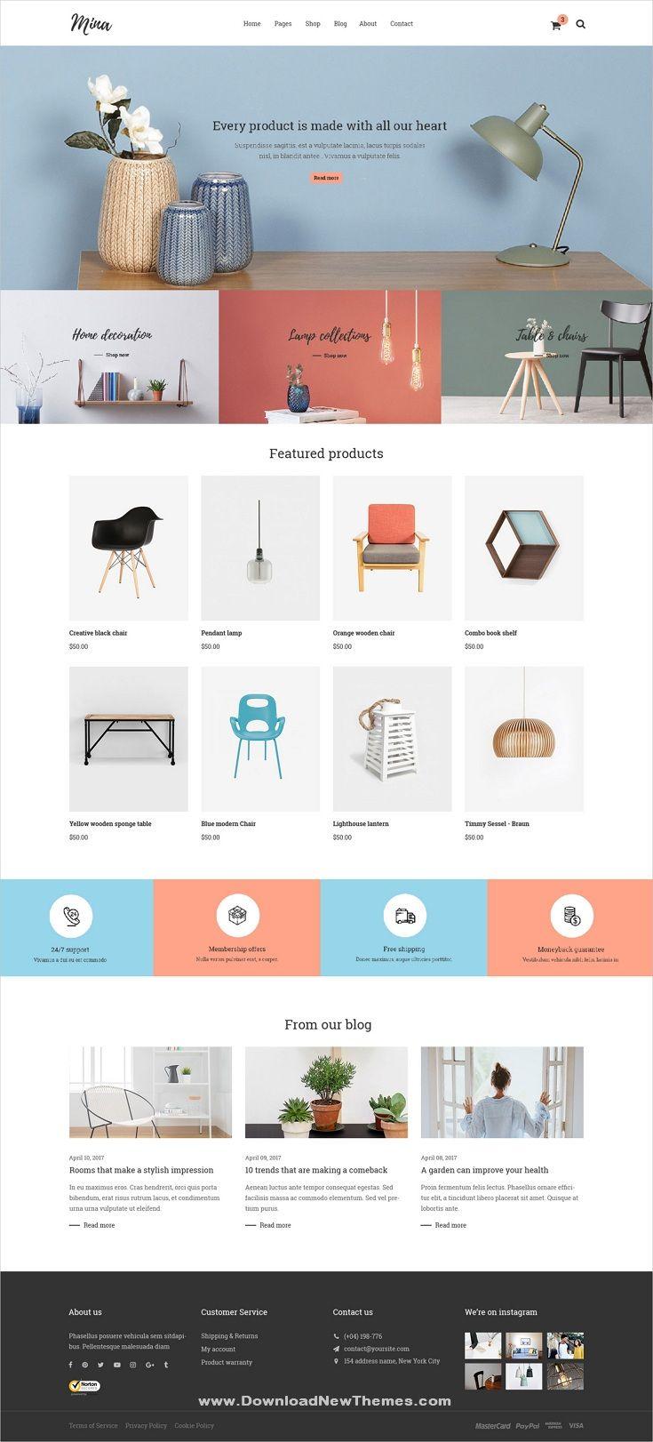 Mina Responsive Furniture Handmade Shop Magento 2 Theme In 2020 Web Layout Design Website Design Inspiration Website Design