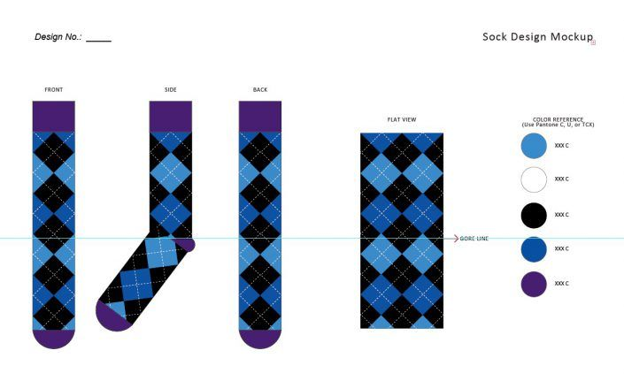 Custom Sock Design Template Kit – Free Downloads