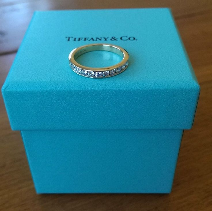 Tiffany & Co Diamond 18ct Yellow Gold Half Eternity Band 0.33tcw G/VS $4550