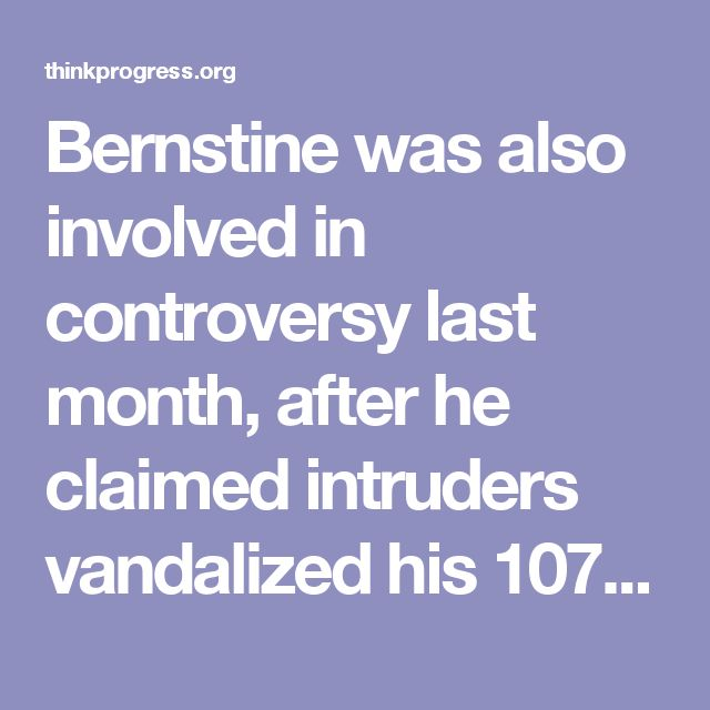 Bernstine was also involved in controversy last month, after he claimed intruders vandalized his 107-acre beef cattle farm in New Beaver. He responded by posting a video to Facebook showing himparticipating in tactical firearms training, along with the hashtag #CastleDoctrine.