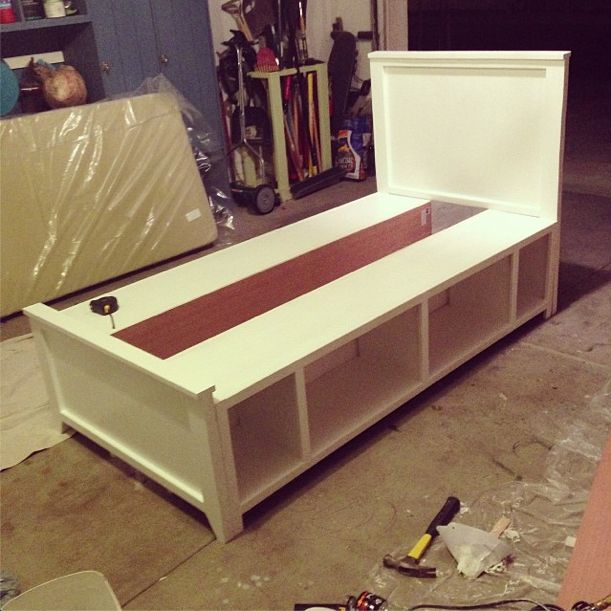 DIY twin bed built in 2 days. Some needs to build this for my