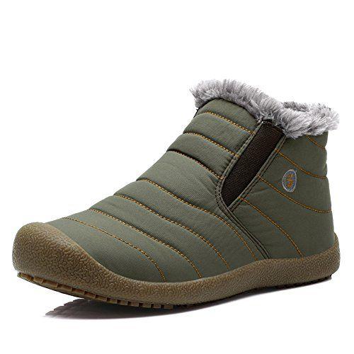 wow Yiruiya Mens Waterproof Snow Boots With Fur