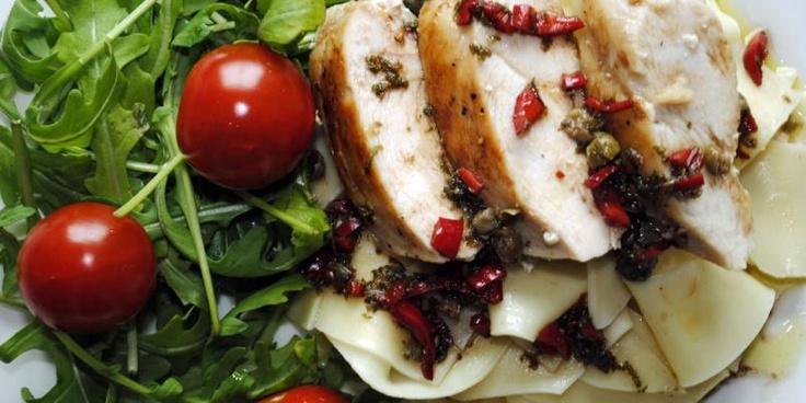 Oppskrift på kylling - Chili-lime-kylling med pasta - Spise