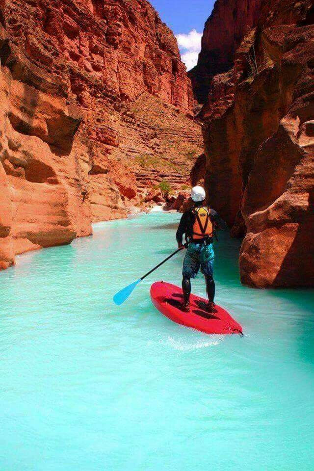 Stand Up Paddle en el Gran Cañón del Colorado, Arizona