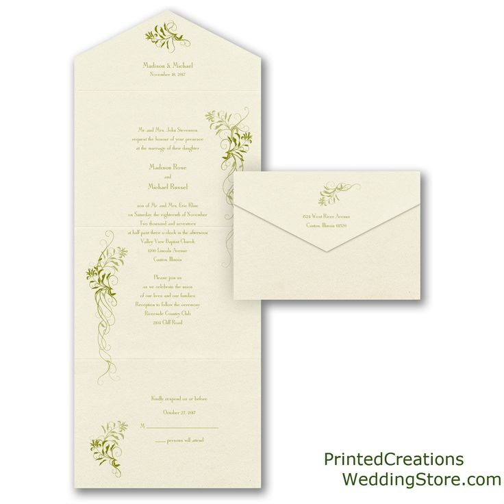 lace wedding invitation wrap%0A Larkspur Seal  u    n Send Wedding Invitation  Beautiful trailing green vines  accent this unique and