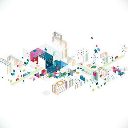 Vector Art : abstract creative geometrical architect and city concept