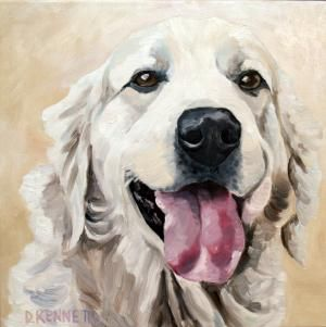 BFF Pet Paintings - Custom oil paintings of your dog / cat by David Kennett♥•♥•♥