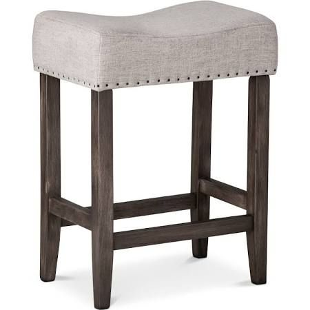 counter height upholstered with nailheads stools - Google Search