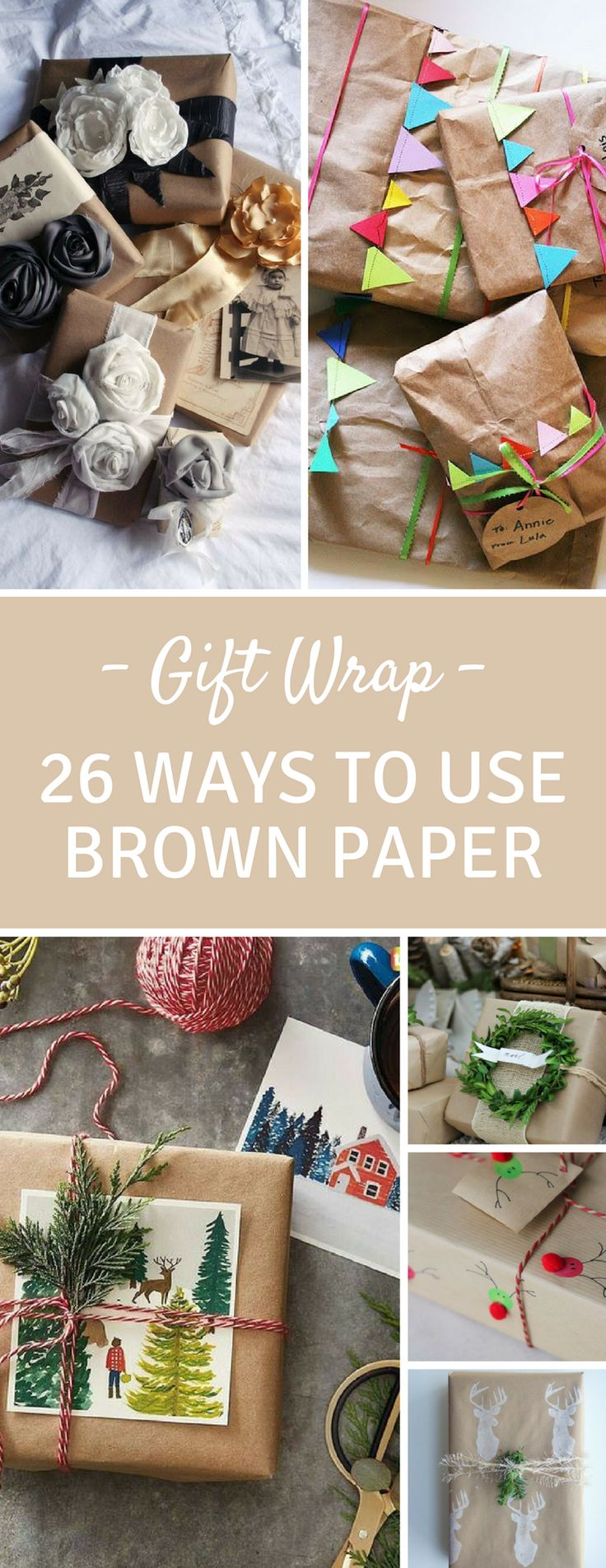 26 Unique Gift Wrap Ideas Using Brown