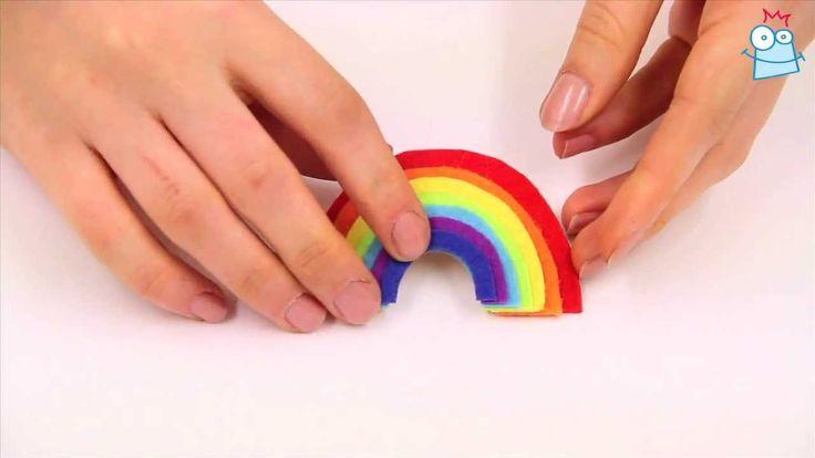 How to make a felt rainbow brooch