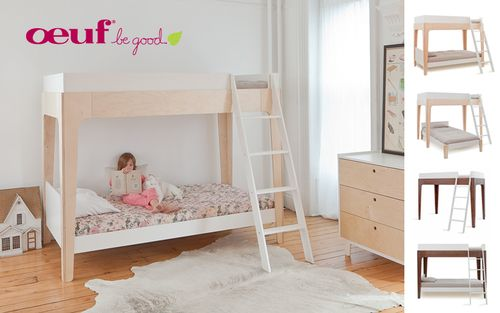 <p>Are you in need of the most modern look for your child?s room but are short on space? What used to be large enough for a cute and cozy baby nursery is now a tight fit for that big kid room. Never worry about space issues again with the Oeuf Perch Bunk Bed. Double decker furniture and bunk beds have retained much of their same functionality over the years, and are a practical and fun space-saving choice for when two children are sharing a room. The Oeuf Perch Bunk Bed doesn?t only help…
