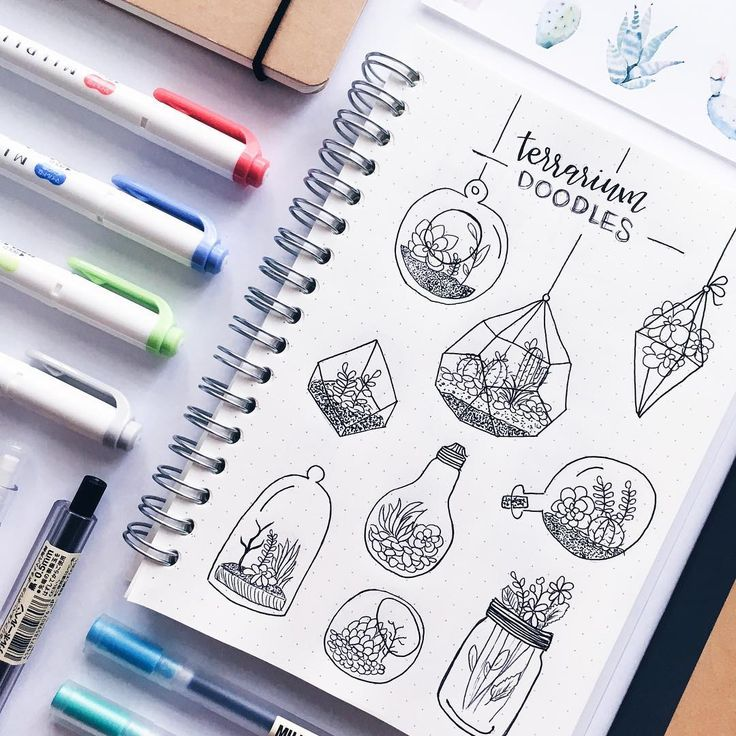 "Polubienia: 5,284, komentarze: 79 – stationery│notes│bujo ✨ (@study.duoo) na Instagramie: ""i've been obsessed with terrariums lately // let me know if you want a tutorial on how to make…"""