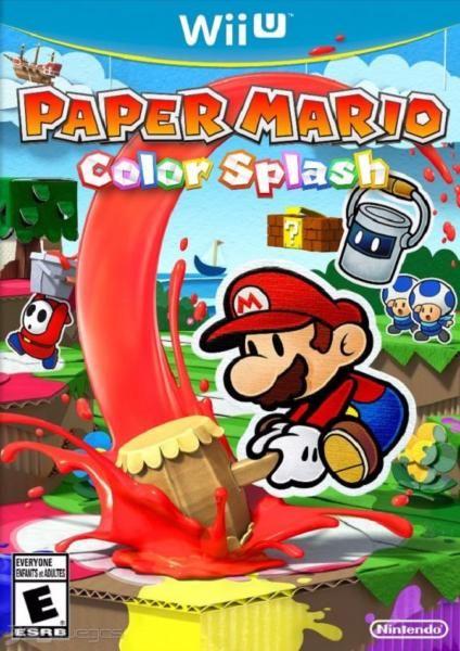 juego wii u paper mario color splash