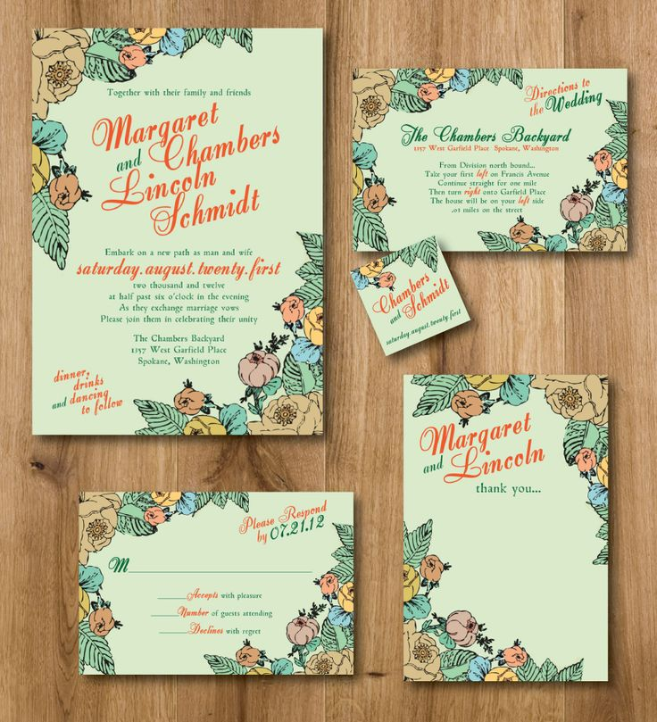New/different ways to word your wedding invitations!