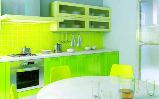 Image Result For Green Color Modular Kitchen Design Green Kitchen Designs Green Kitchen Furniture Green Kitchen Cabinets