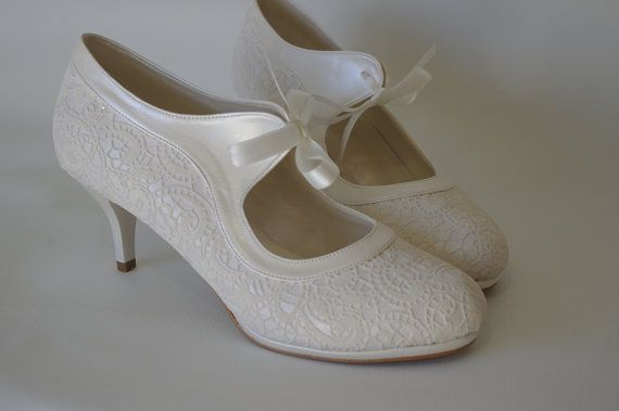 I wish you happiness.  Please visit my policies and feedback reviews.  We will make the shoes for you according to the measurement of your feet. Please send me your daily US women shoe size. Available heel as below : About 5 cm with platform (about 2 inches)  Color options: ivory , black, powder (other colors on request!)  Please note that we need 10-15 days to make the shoes for you , then about 5-7days shipping via DHL, UPS or NEX  Also, please add your phone number for delivery need…