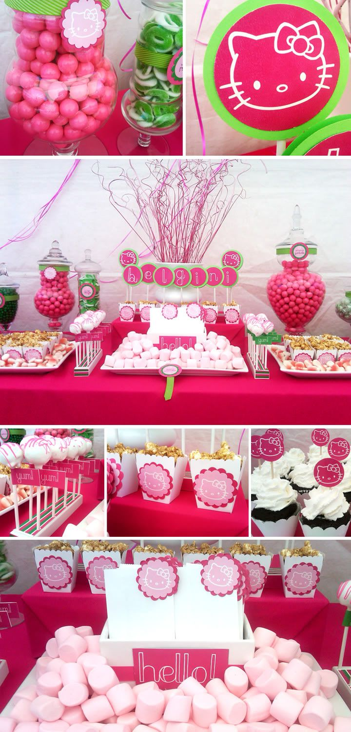 Hello kitty party food boxes the image - Deco table gourmandise ...