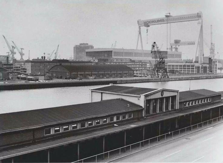 Terminalen för köpenhamnsbåtarna och Kockums, 1975.