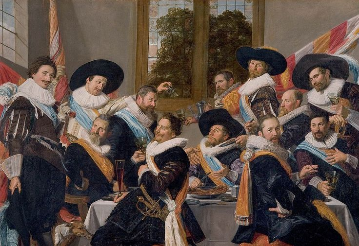 Nicolaas van der Leyden, the villain of The Alchemist's Portrait, is based on some of the figures depicted in Banquet of the Officers of the St Hadrian Civic Guard Company painted by Frans Hals in 1627. http://simon-rose.com/books/etc/historical-background/