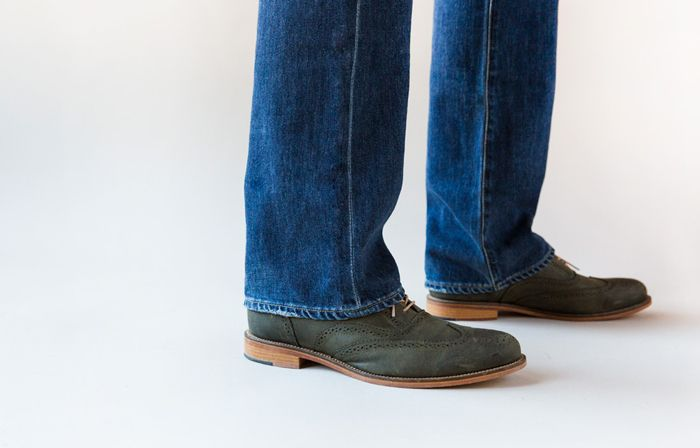 Where your jeans should be hemmed 2/3: Straight leg. From the Trunk Club blog.