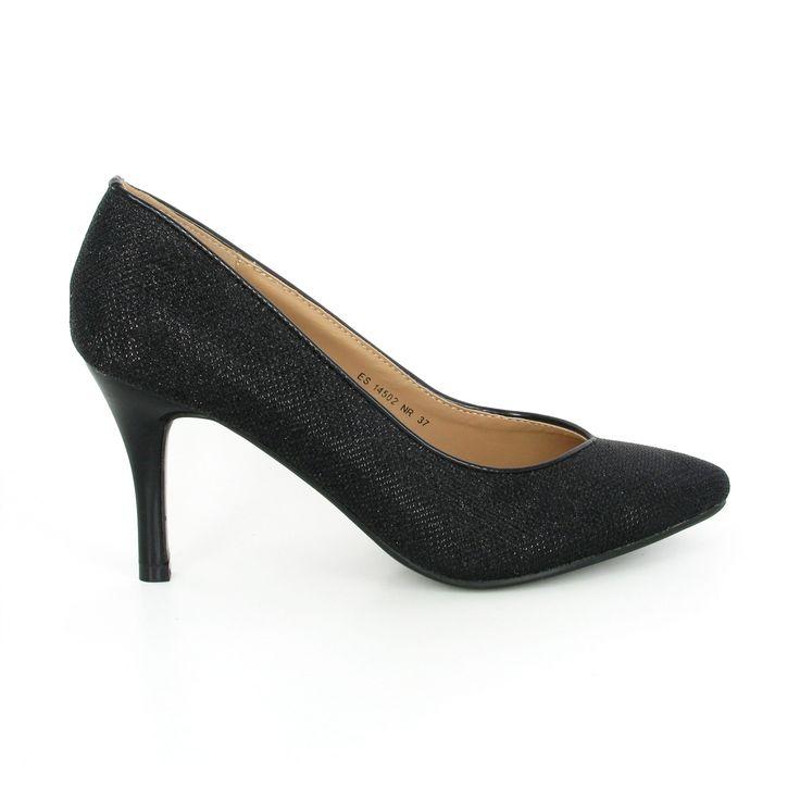 20L10YBLK, Escarpins Bout fermé Femme - Noir - Noir (Black 01), 40EVANS