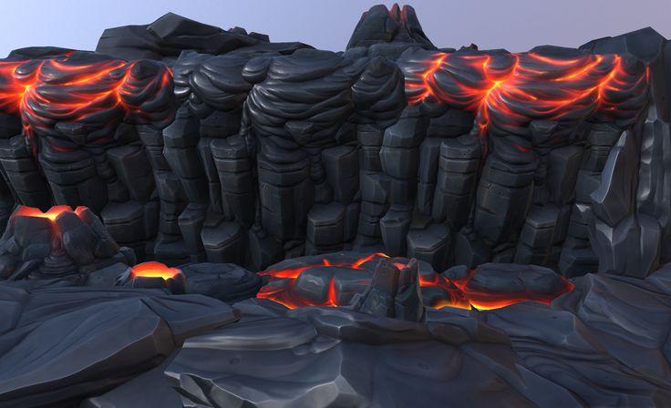 ArtStation - Cartoon Volcanic objects , Alexey B.