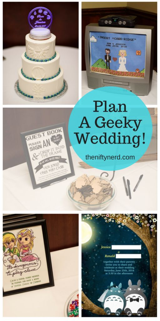 Plan the perfect geek wedding! -Whether you love board games, videos games, or anime...whether your favorite fandom is Magic the Gathering, Star Wars, Lord of the Rings, Totoro, Game of Thrones, Legend of Zelda, Super Mario, or more --Get inspired for your nerdy nuptials!