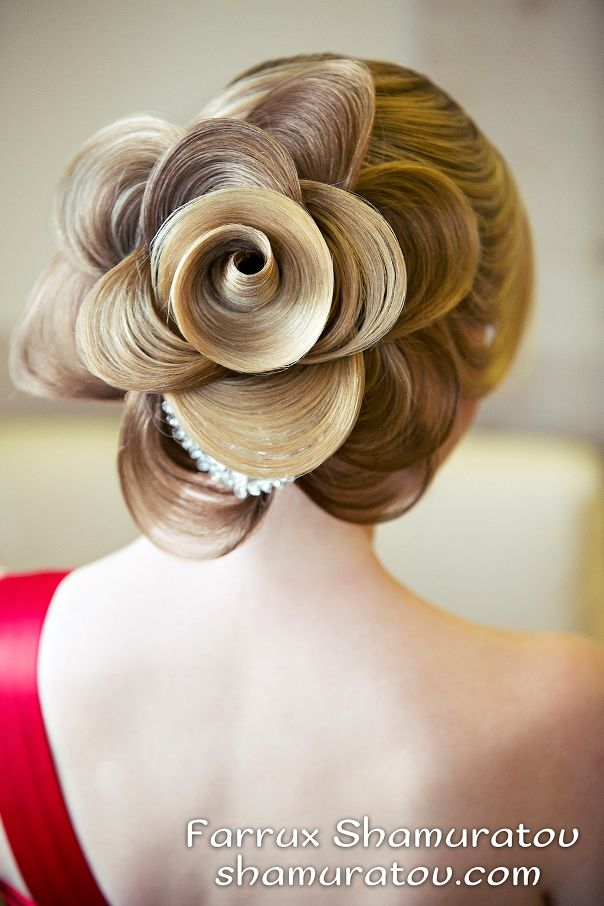 Bridal Hairstyle With Rose : 1722 best images about wedding hairstyles on pinterest