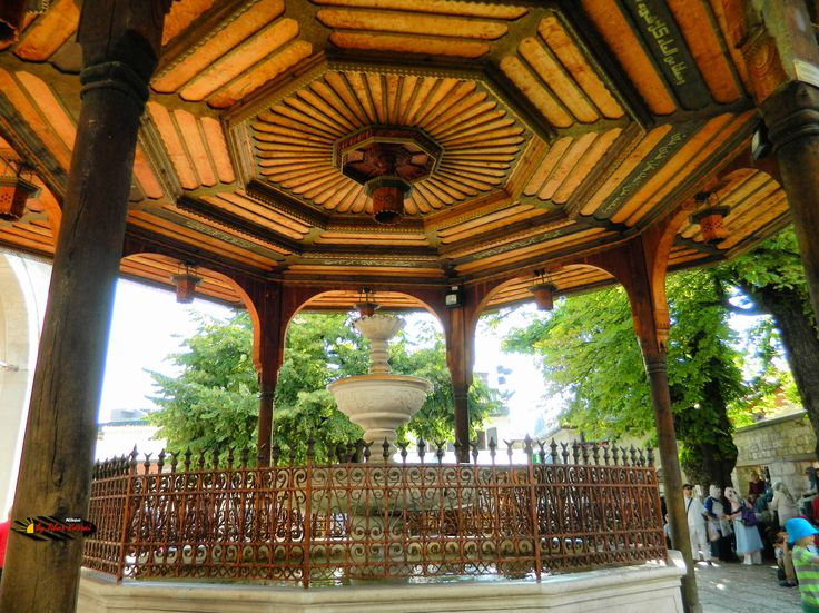 Gazi Husrev-beg Mosque ( Fountain), Sarajevo, Bosnia and Herzegovina, Nikon Coolpix L310, 4.5mm, 1/100s, ISO 80, f/3.1, HDR-Art photography, 201607101635