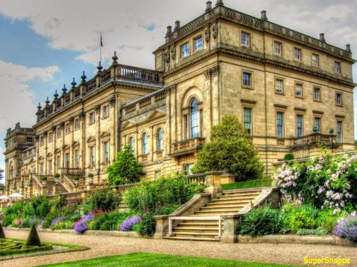 Harewood House, Leeds, Yorkshire | Designed by the architects John Carr and Robert Adam, it was built from 1759 to 1771 for wealthy trader Edwin Lascelles, 1st Baron Harewood.  Still home to the Lascelles family, Harewood House is a member of Treasure Houses of England, a marketing consortium for nine of the foremost historic homes in England. The house is a Grade I listed building.