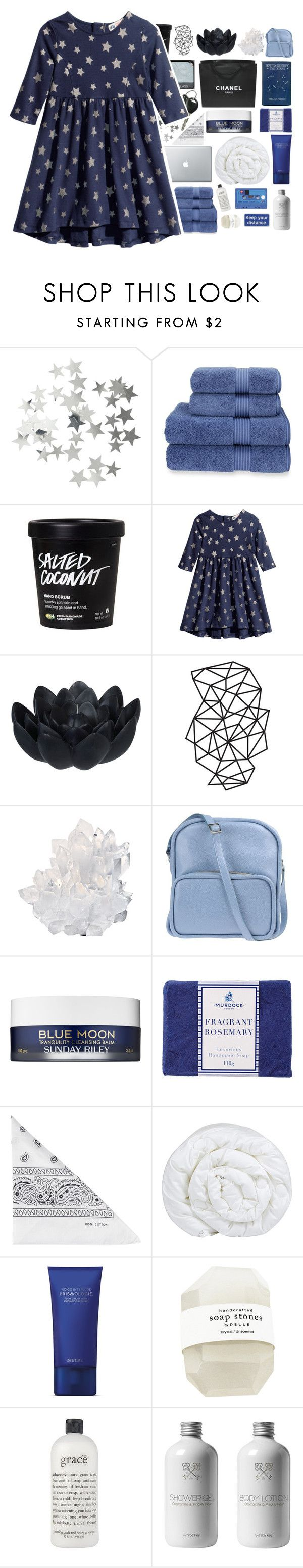 """""""☾guys my age don't know how to treat me"""" by child-of-the-galaxy ❤ liked on Polyvore featuring H&M, Christy, Sia, Chanel, WALL, McCoy Design, Jil Sander Navy, Sunday Riley, Murdock London and NLY Accessories"""