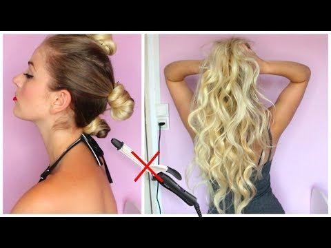 SANS CHALEUR : Beach wave hair ! - YouTube