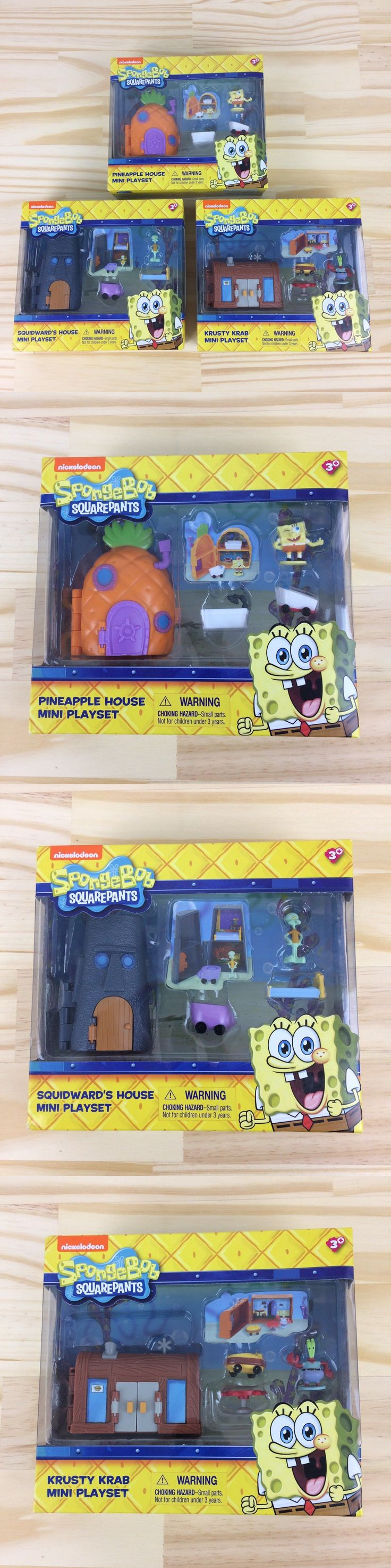 SpongeBob Squarepants 20919: New Lot Of 3 Spongebob S House Squidward S House The Krusty Krab Mini Playsets -> BUY IT NOW ONLY: $39.99 on eBay!