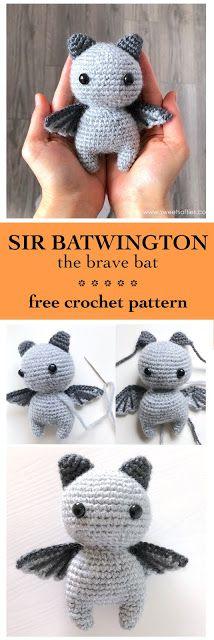 Sir Batwington die Fledermaus (Free Amigurumi Crochet Pattern)   – DIY Handarbeit