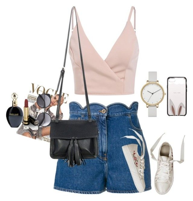 """day off"" by viennaelgiva on Polyvore featuring Wood Wood, Valentino, Skagen, Kate Spade, Roberto Cavalli, Gucci and Chicnova Fashion"