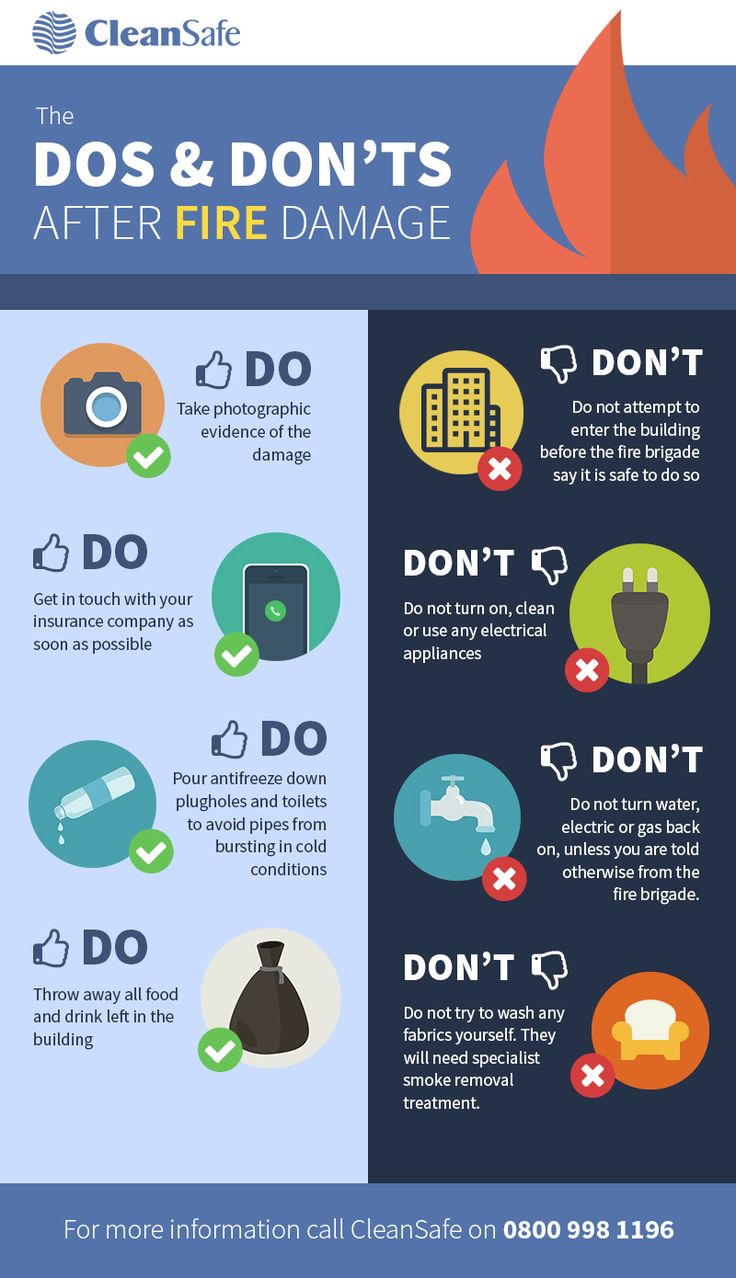 15 best college teaching tips images on pinterest gym learning dos and donts of fire damage infographic fandeluxe Image collections