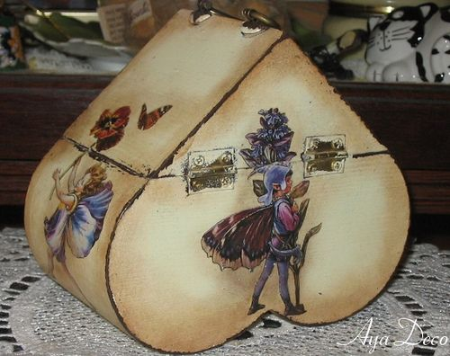 Fairies - decoupage box
